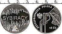 Изображение Монеты Польша 10 злотых 2008 Серебро Proof Сибирские изгнанники