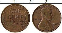 Изображение Монеты США 1 цент 1942 Бронза XF Авраам Линкольн