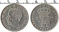 Изображение Монеты Швеция 2 кроны 1963 Серебро UNC-