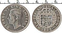Изображение Монеты Новая Зеландия 1/2 кроны 1942 Серебро XF+ Георг VI
