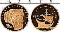 Изображение Монеты Италия 50 евро 2003 Золото Proof- Искусство в Европе: