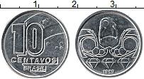 Изображение Монеты Бразилия 10 сентаво 1989 Медно-никель UNC-