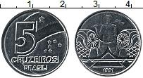 Изображение Монеты Бразилия 5 крузейро 1991 Медно-никель UNC-