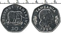 Продать Монеты Танзания 20 шиллингов 1990 Медно-никель