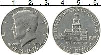 Изображение Монеты США 1/2 доллара 1976 Медно-никель UNC- 200 лет независимост
