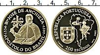 Изображение Монеты Португалия 200 эскудо 1997 Золото Proof Хосе Анхиета (КМ# 69