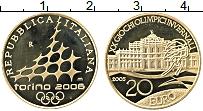 Изображение Монеты Италия 20 евро 2005 Золото Proof Зимние олимпийские и