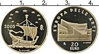 Изображение Монеты Италия 20 евро 2005 Золото Proof Искусство в Европе: