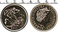 Изображение Монеты Великобритания 5 фунтов 2011 Золото Proof Святой Георгий (KM#