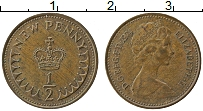 Изображение Монеты Великобритания 1/2 пенни 1974 Бронза XF Елизавета II.