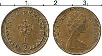 Изображение Монеты Великобритания 1/2 пенни 1976 Бронза XF
