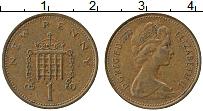 Изображение Монеты Великобритания 1 пенни 1973 Бронза XF Елизавета II.