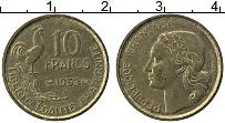 Изображение Монеты Франция 10 франков 1953 Латунь XF