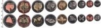 Изображение Наборы монет Бонайре Бонайре 2012 2012  UNC
