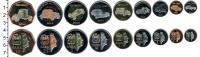 Изображение Наборы монет Саба Саба 2014 2014  UNC- В наборе 9 монет ном