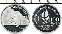Изображение Монеты Франция 100 франков 1989 Серебро Proof- Олимпийские игры в А