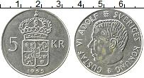Изображение Монеты Швеция 5 крон 1955 Серебро UNC-