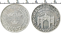 Изображение Монеты Швеция 100 крон 1983 Серебро UNC- Парламент
