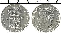 Изображение Монеты Швеция 2 кроны 1956 Серебро XF Густав VI Адольф