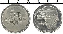 Изображение Монеты Швейцария 5 франков 1983 Медно-никель UNC-