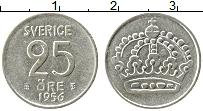 Изображение Монеты Швеция 25 эре 1956 Серебро XF Корона