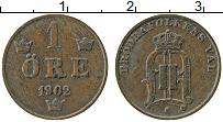 Изображение Монеты Швеция 1 эре 1902 Медь XF Оскар II