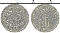 Изображение Монеты Швеция 25 эре 1902 Серебро VF
