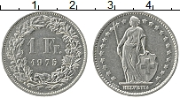 Изображение Монеты Швейцария 1/2 франка 1975 Медно-никель XF