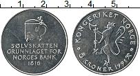 Изображение Мелочь Норвегия 5 крон 1991 Медно-никель UNC- 175 лет Центрального