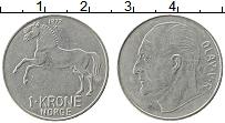 Изображение Монеты Норвегия 1 крона 1972 Медно-никель XF