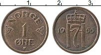 Изображение Монеты Норвегия 1 эре 1955 Медь XF