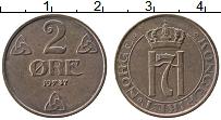 Изображение Монеты Норвегия 2 эре 1937 Медь XF Хокон VII