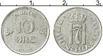 Изображение Монеты Норвегия 10 эре 1918 Серебро VF Хаакон VII