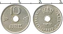 Изображение Монеты Норвегия 10 эре 1951 Медно-никель XF