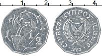 Изображение Монеты Кипр 1/2 цента 1983 Алюминий XF Цветы