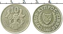 Изображение Монеты Кипр 10 центов 1993 Латунь XF Птицы