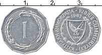 Изображение Монеты Кипр 1 мил 1963 Алюминий XF Герб
