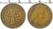Изображение Монеты Кипр 5 милс 1956 Медь XF Елизавета II