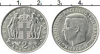 Изображение Монеты Греция 2 драхмы 1966 Медно-никель XF Константин II