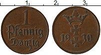 Продать Монеты Данциг 1 пфенниг 1930 Медь