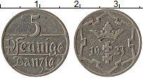 Продать Монеты Данциг 5 пфеннигов 1923 Медно-никель