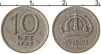Изображение Монеты Швеция 10 эре 1943 Серебро XF Густав V