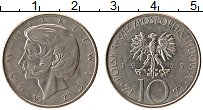 Изображение Монеты Польша 10 злотых 1975 Медно-никель VF Адам Мицкевич