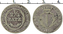 Изображение Монеты Швейцария 2 1/2 батзена 1815 Серебро VF кантон Галлен