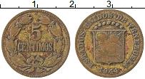 Изображение Монеты Венесуэла 5 сентим 1944 Латунь XF Герб
