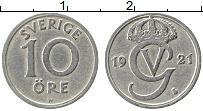 Изображение Монеты Швеция 10 эре 1921 Медно-никель XF Густав V