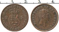 Изображение Монеты Дания 2 скиллинга 1809 Медь XF