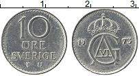 Изображение Монеты Швеция 10 эре 1973 Медно-никель XF