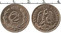 Изображение Монеты Мексика 2 сентаво 1915 Медь XF Год-тип.. Герб