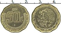 Изображение Монеты Мексика 50 сентаво 2004 Латунь XF Герб
